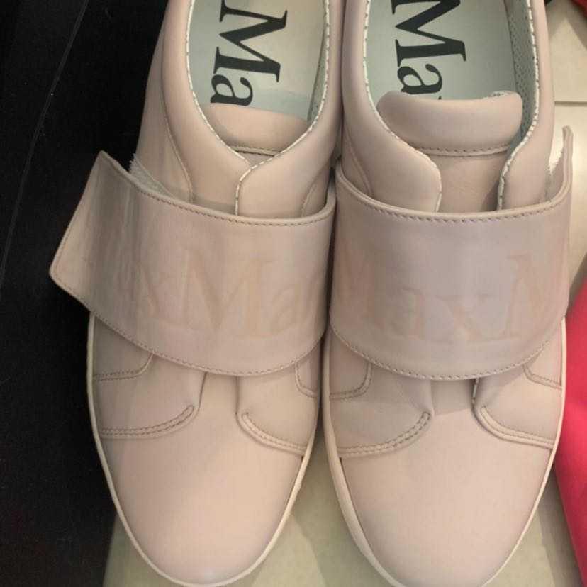 Maxmara light pink strap sneakers