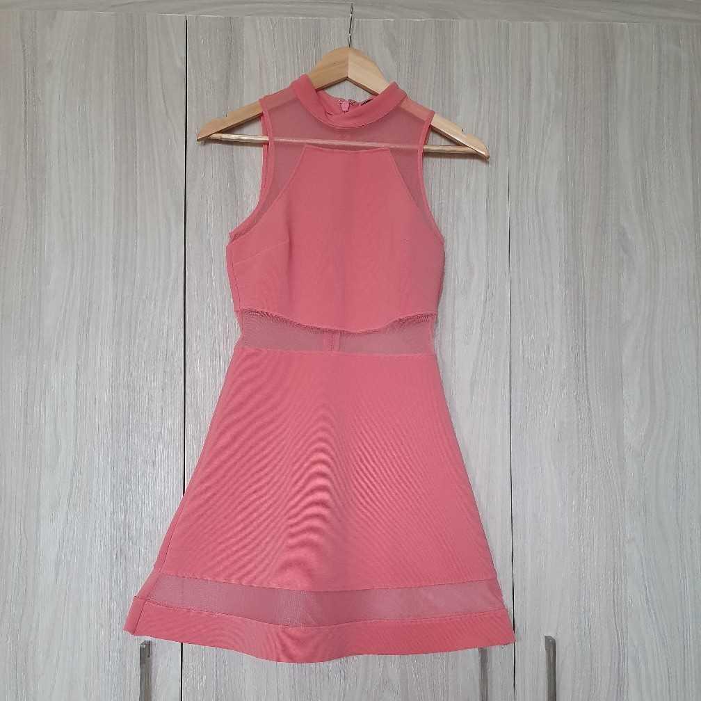 TopShop Peach Mesh minidress