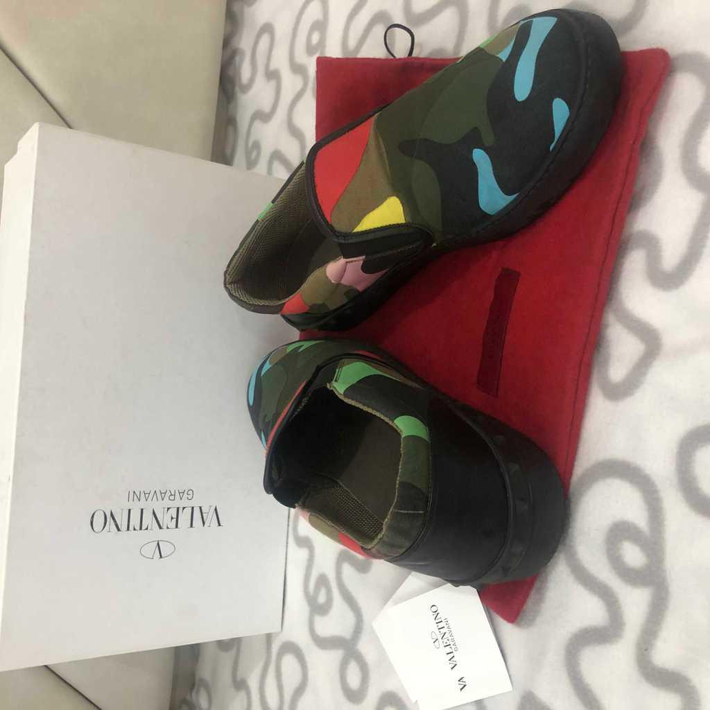 Authentic Valentino Camo Canvas Sneakers Men
