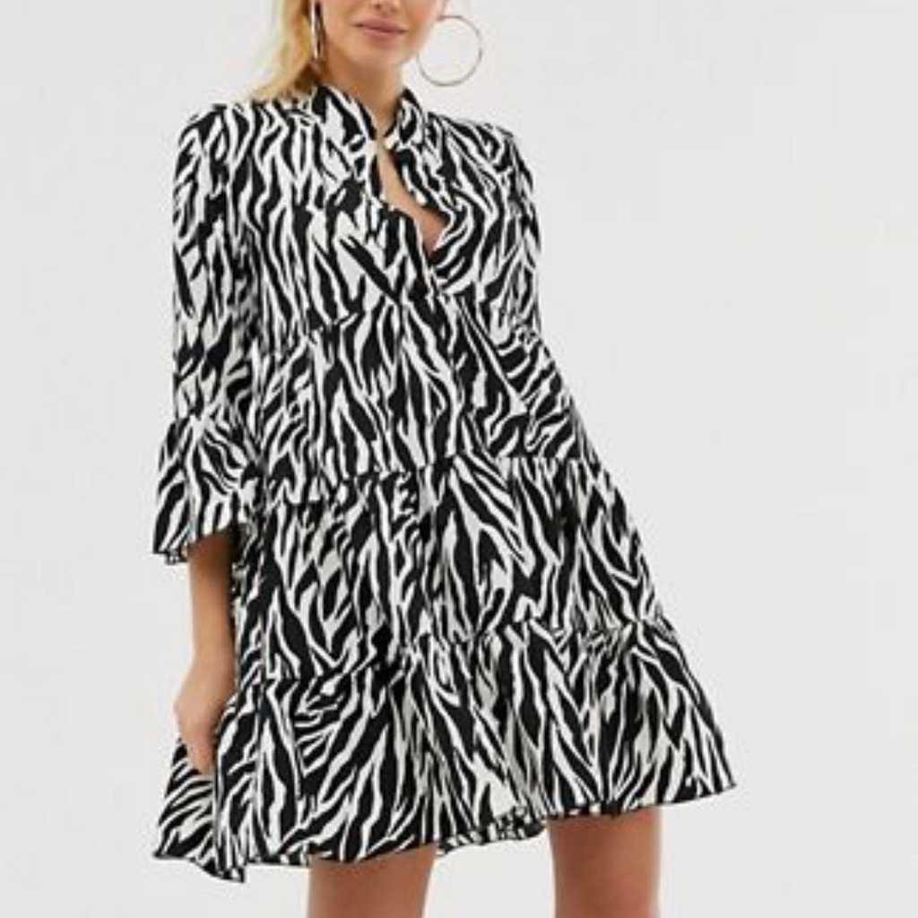 Girl in mind- zebra print dress
