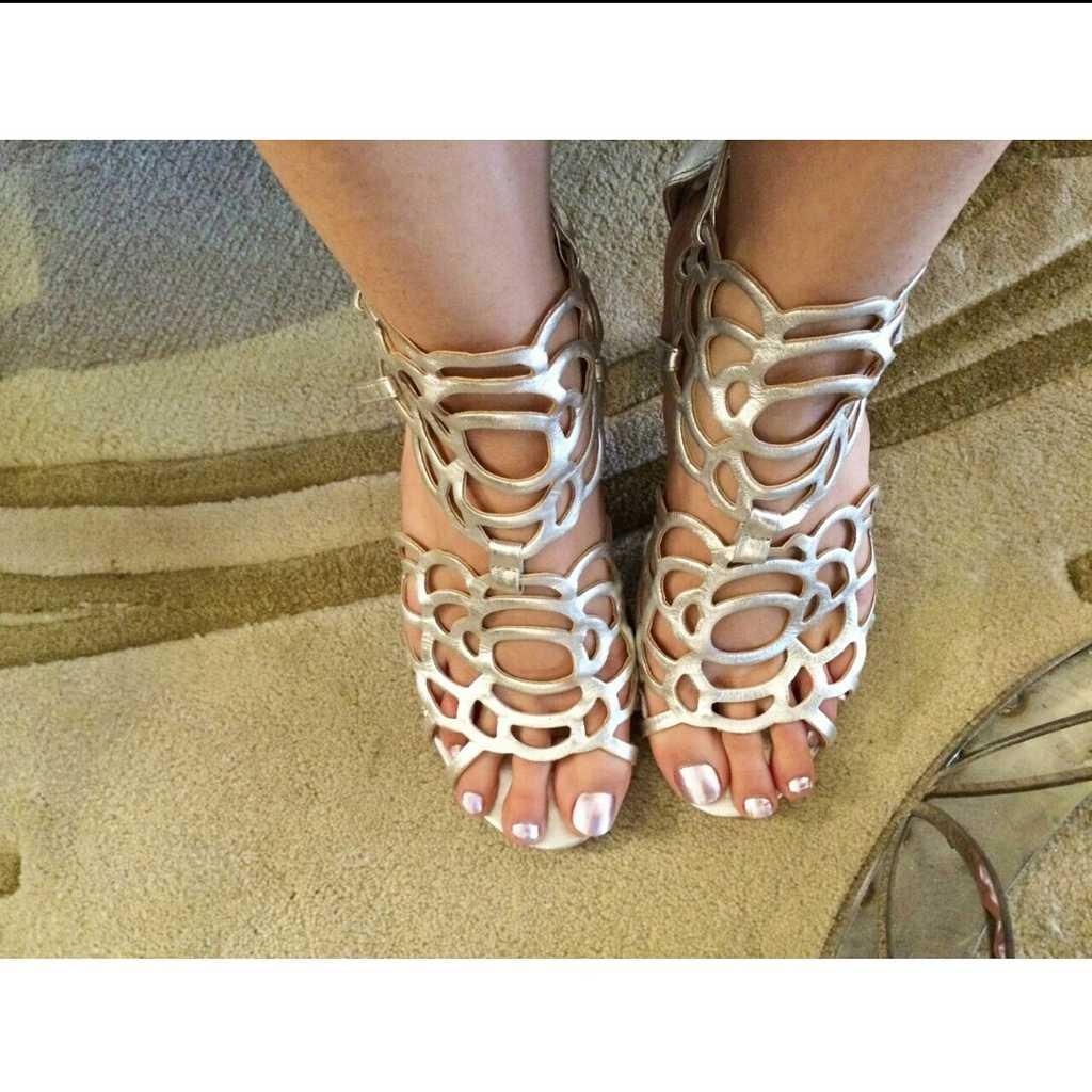 Michelle Belau silver heels