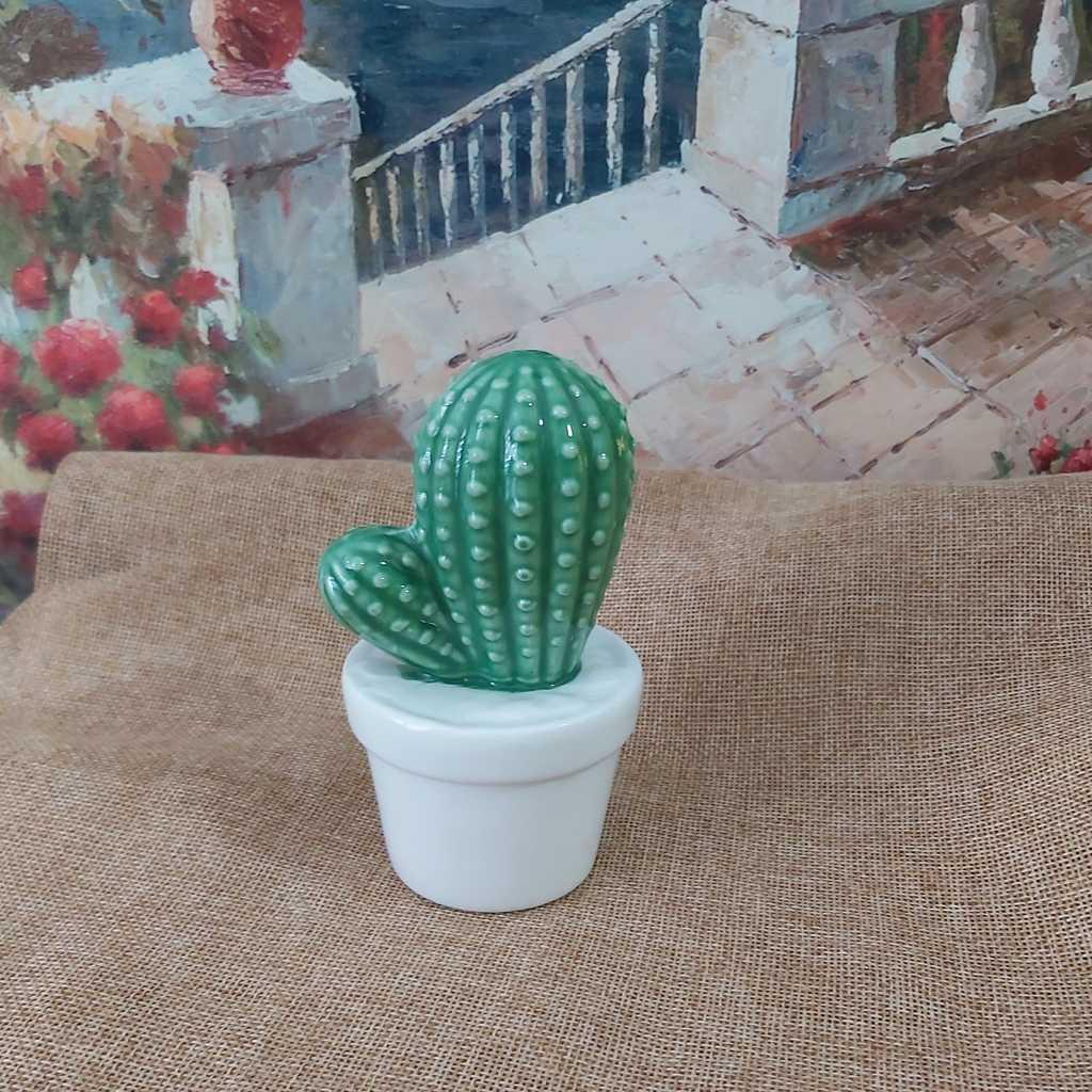 Ceramic cactus statue
