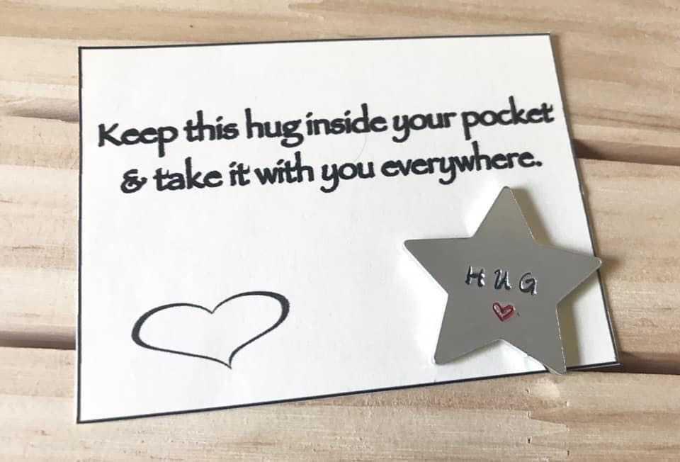 Mini star shaped pocket hug