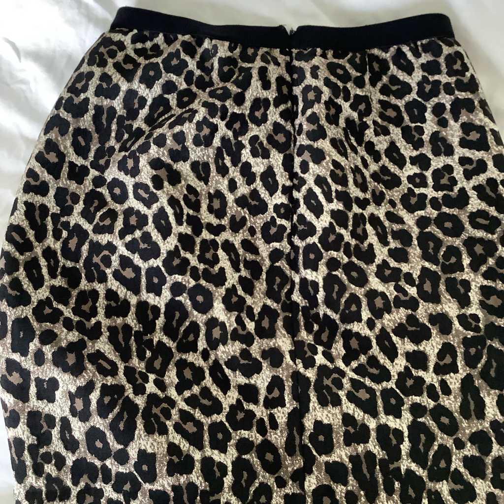 Massimo Dutti leopard skirt