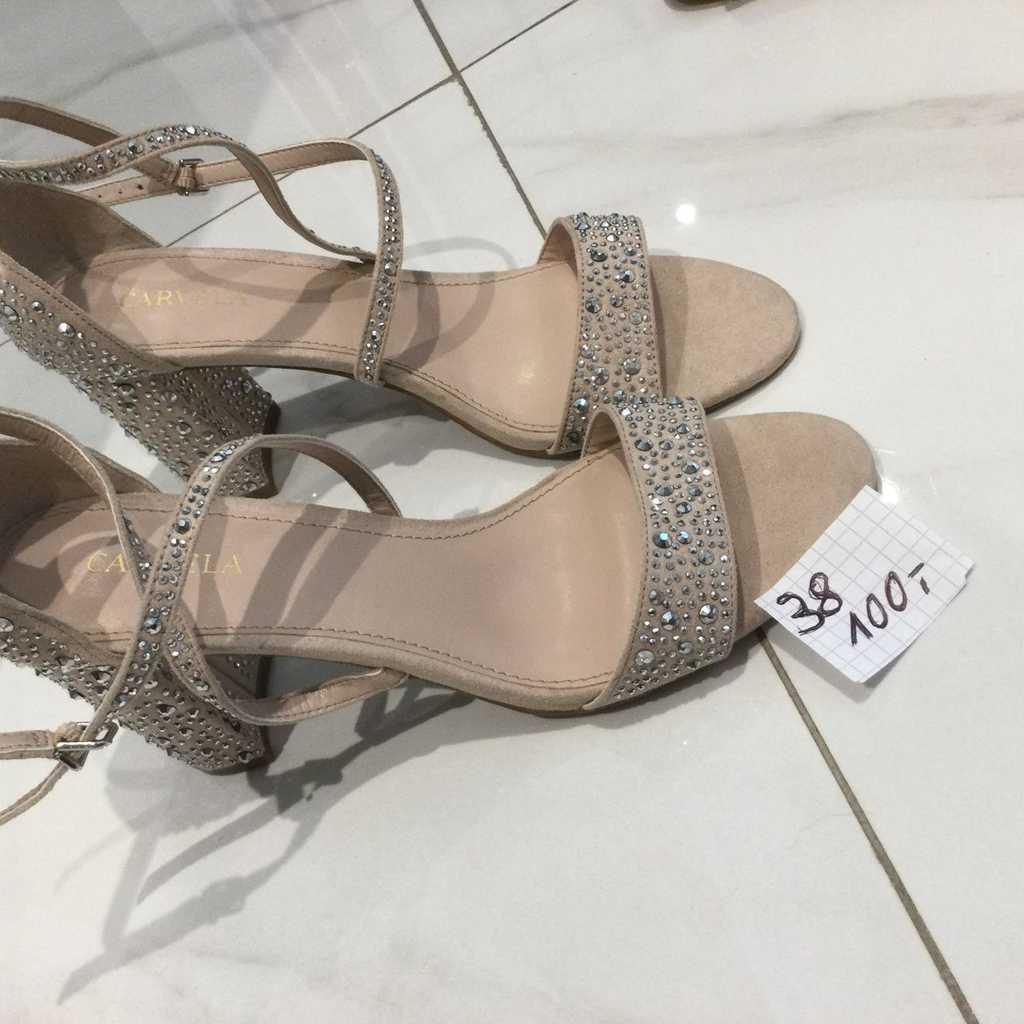 Crystal Sandals Beige 38
