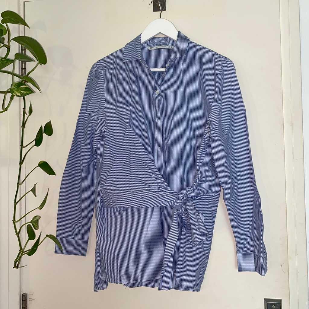 Zara blue/white stripped shirt