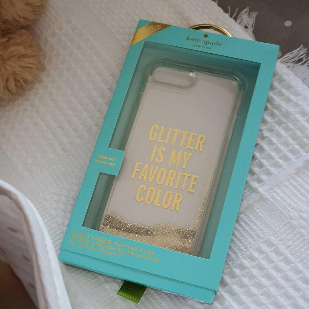 Kate Spade clear liquid glitter case