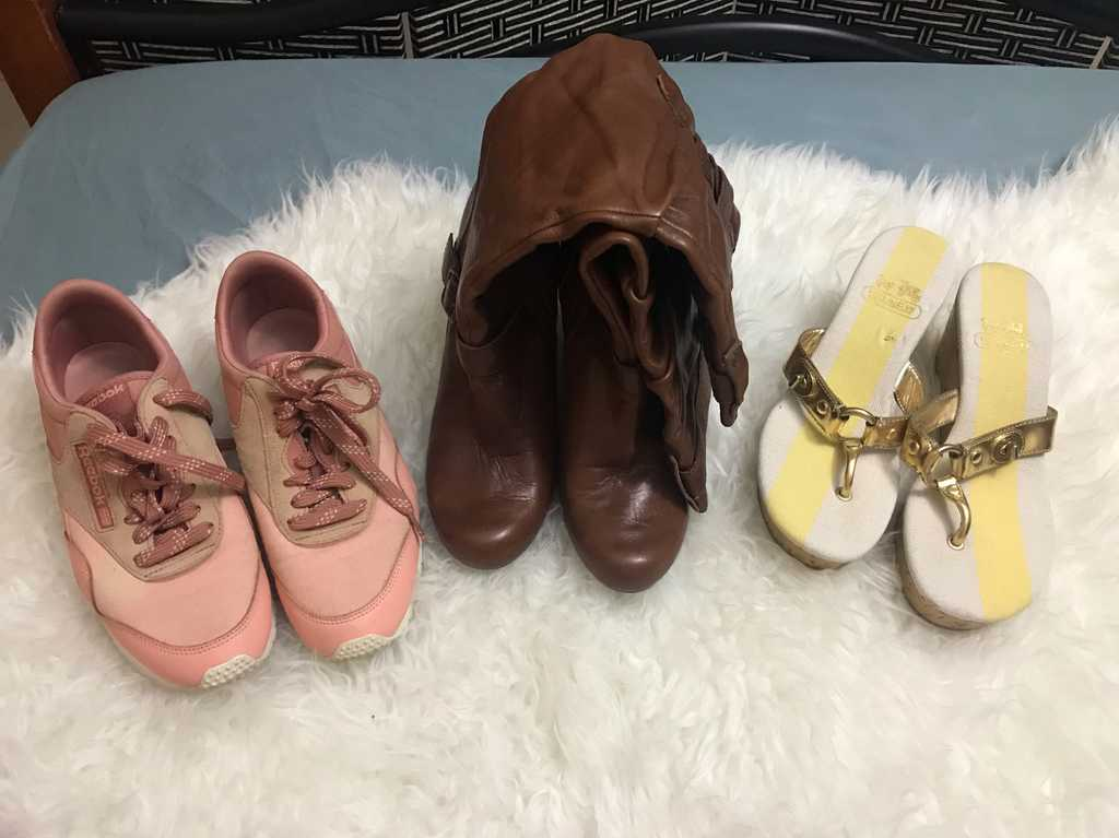 Assorted women's footwear