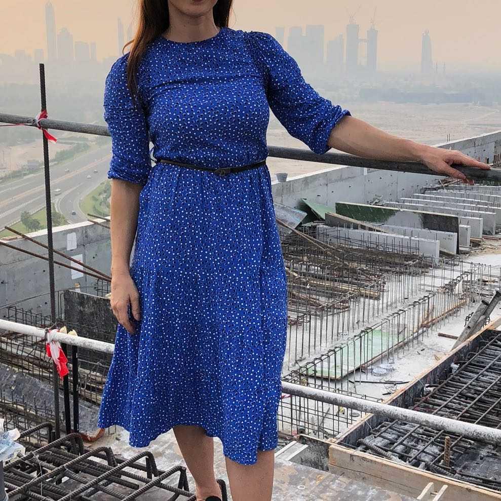Zara Print Midi Dress- office or casual