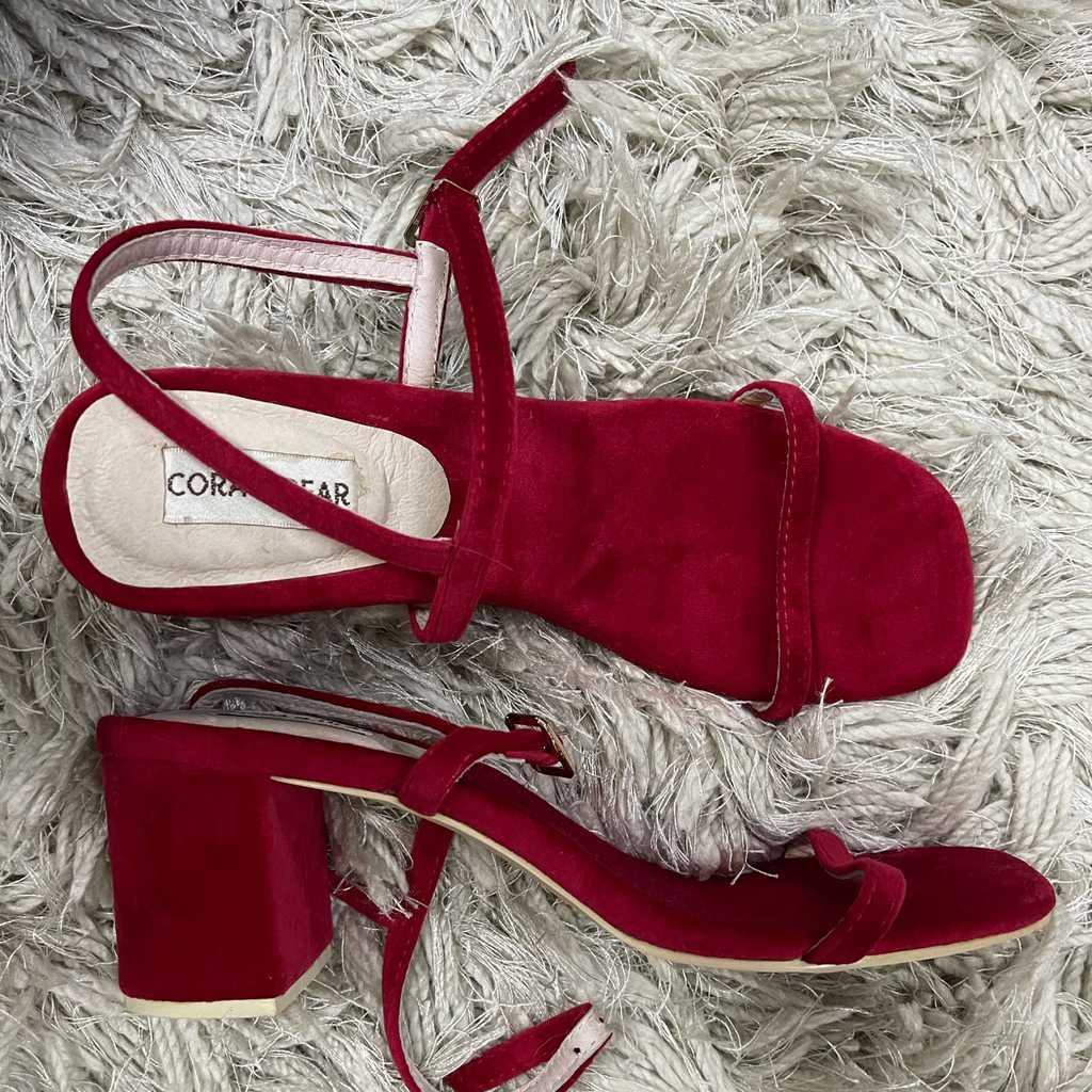 Brand New Vegan Red Strappy Sandals