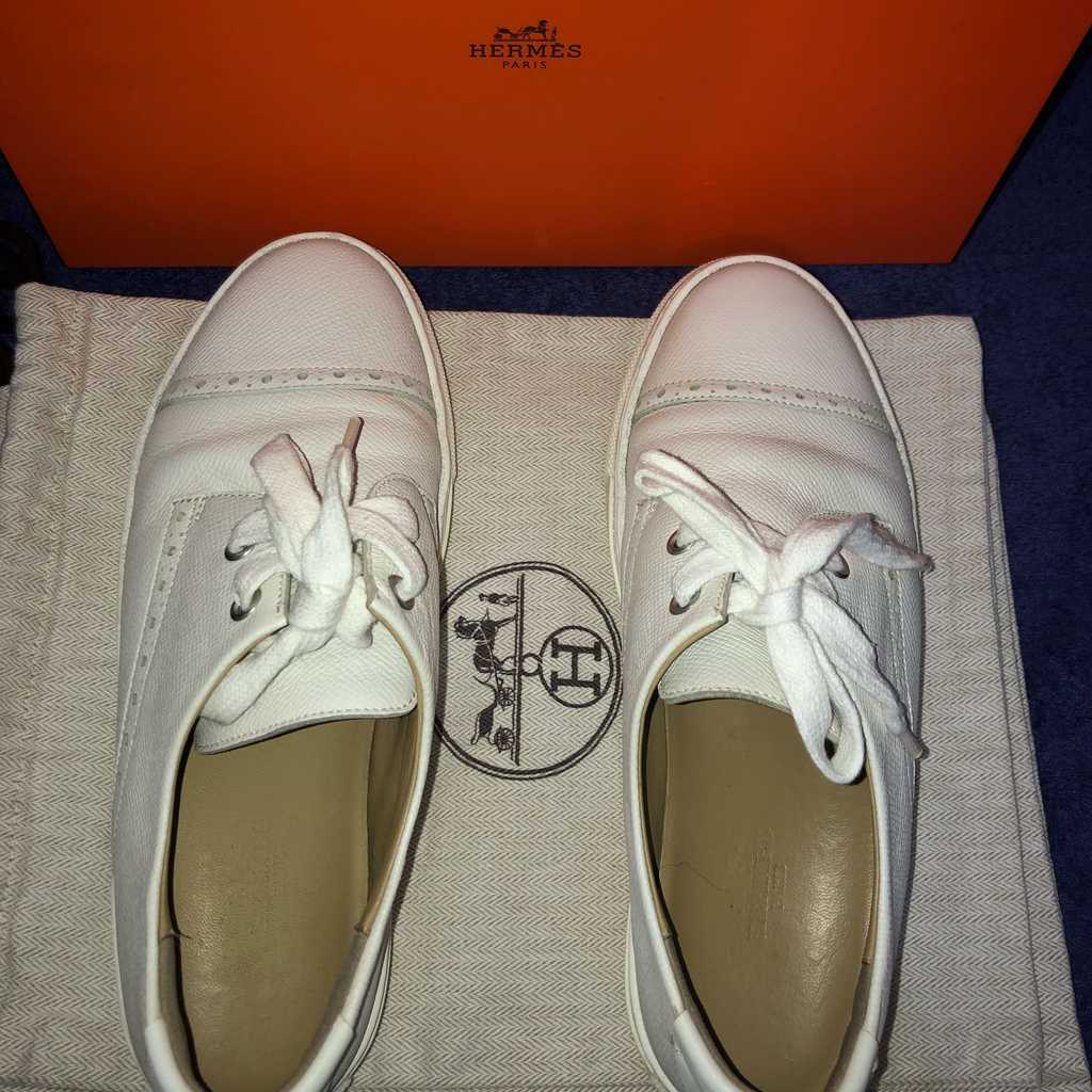 Hermès White Sneakers Authentic