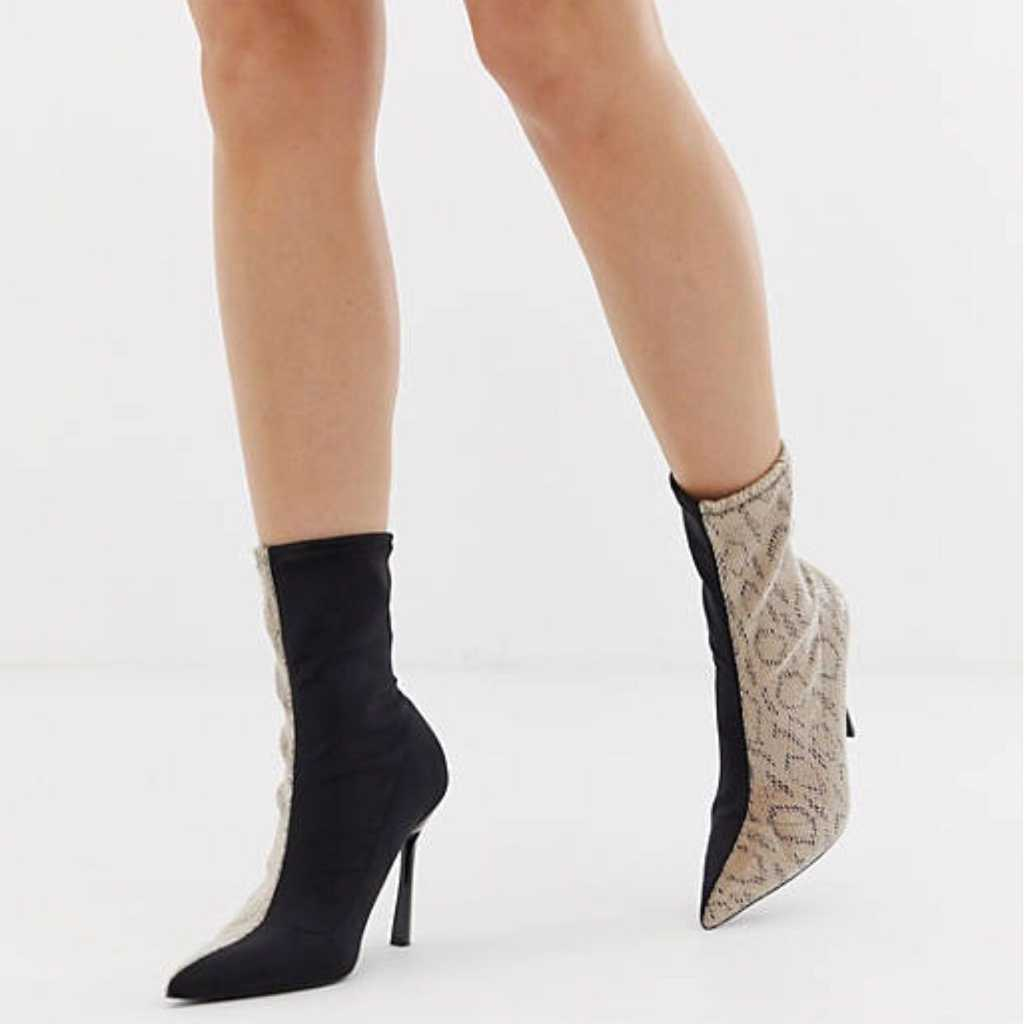 Pointed heeled boots