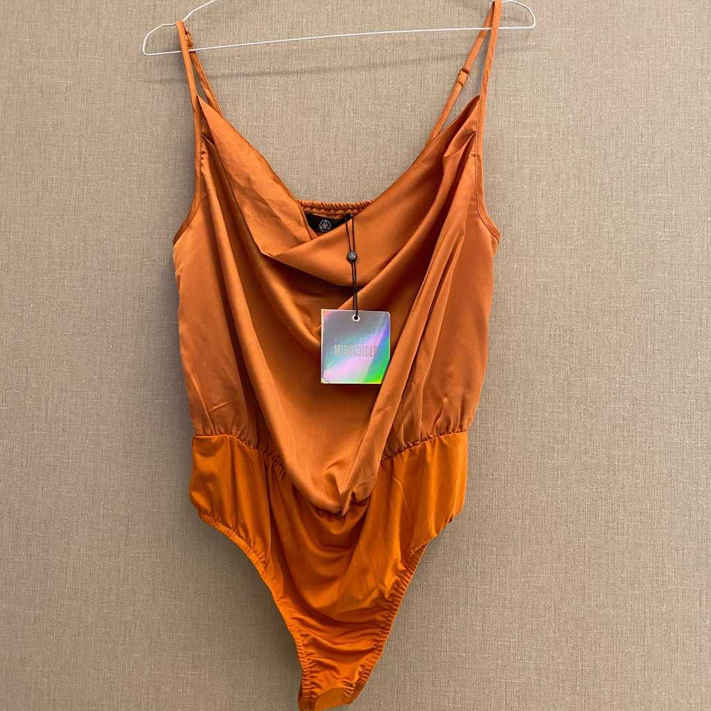 Misguided Orange Bodysuit