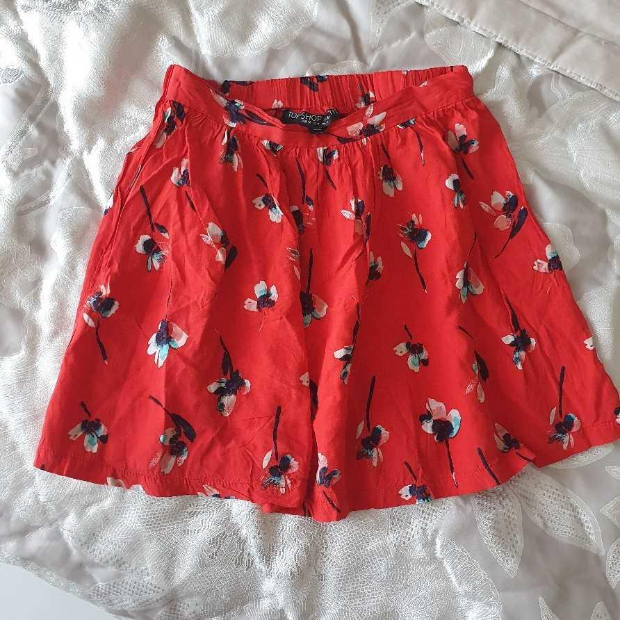 UK8 Topshop red skirt