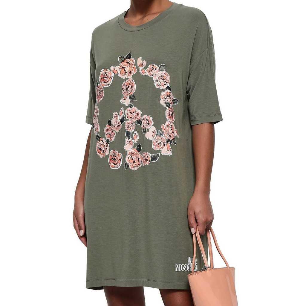 Moschino floral print stretch Modal mini dres