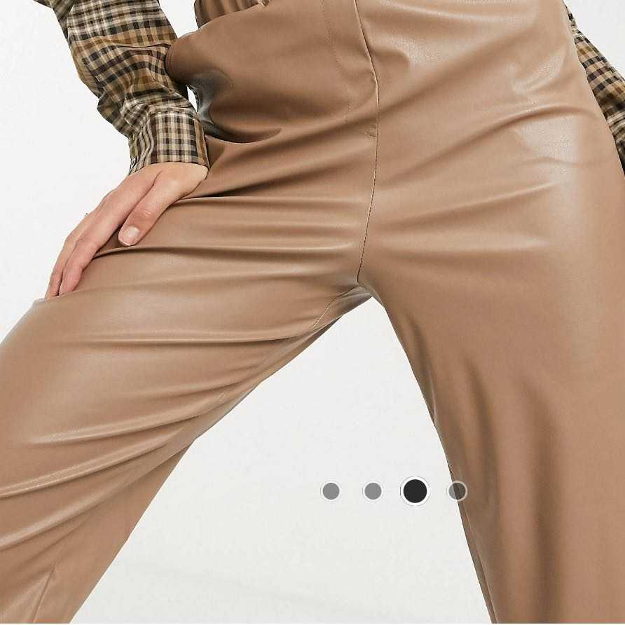 Leather look joggers
