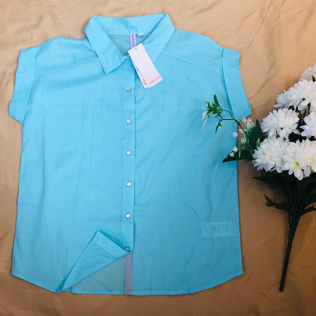 New, Penshoppe light blue blouse (Size: S)