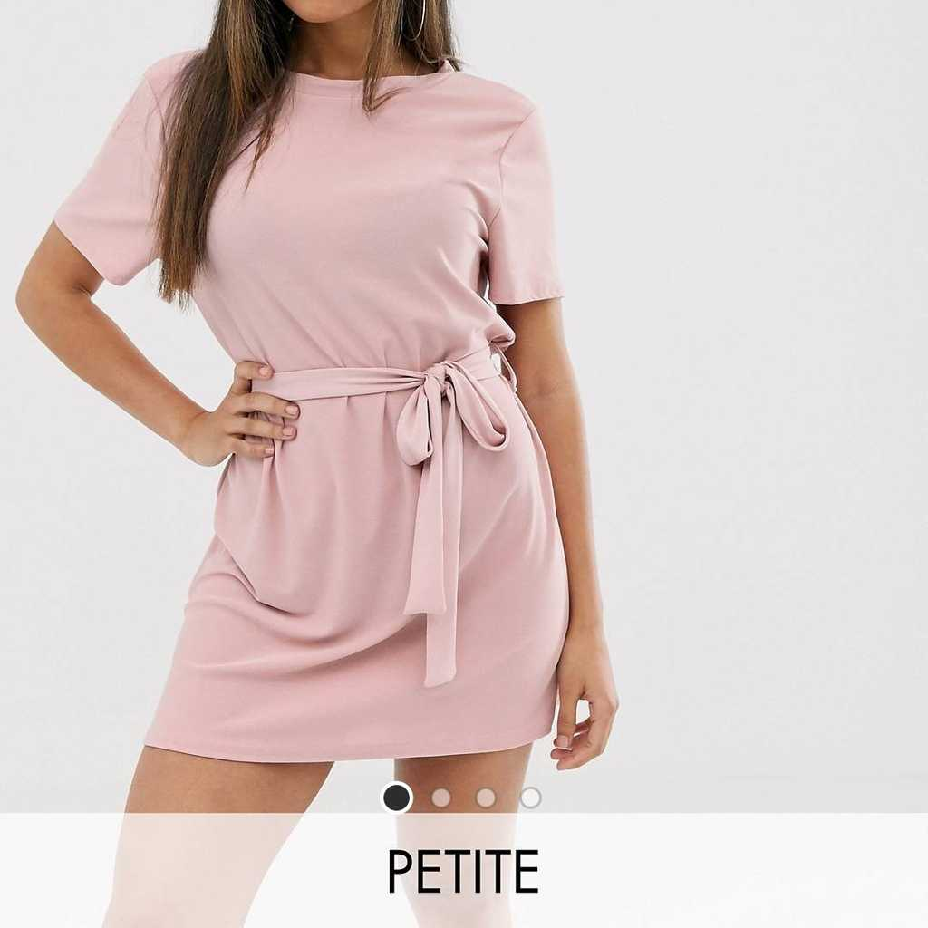 Missguided Petite Tshirt Dress with Belt