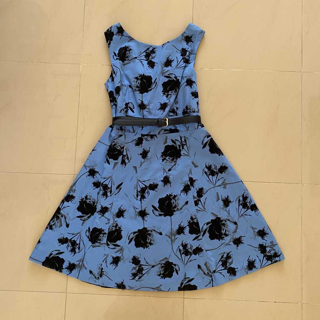 Blue vintage style dress