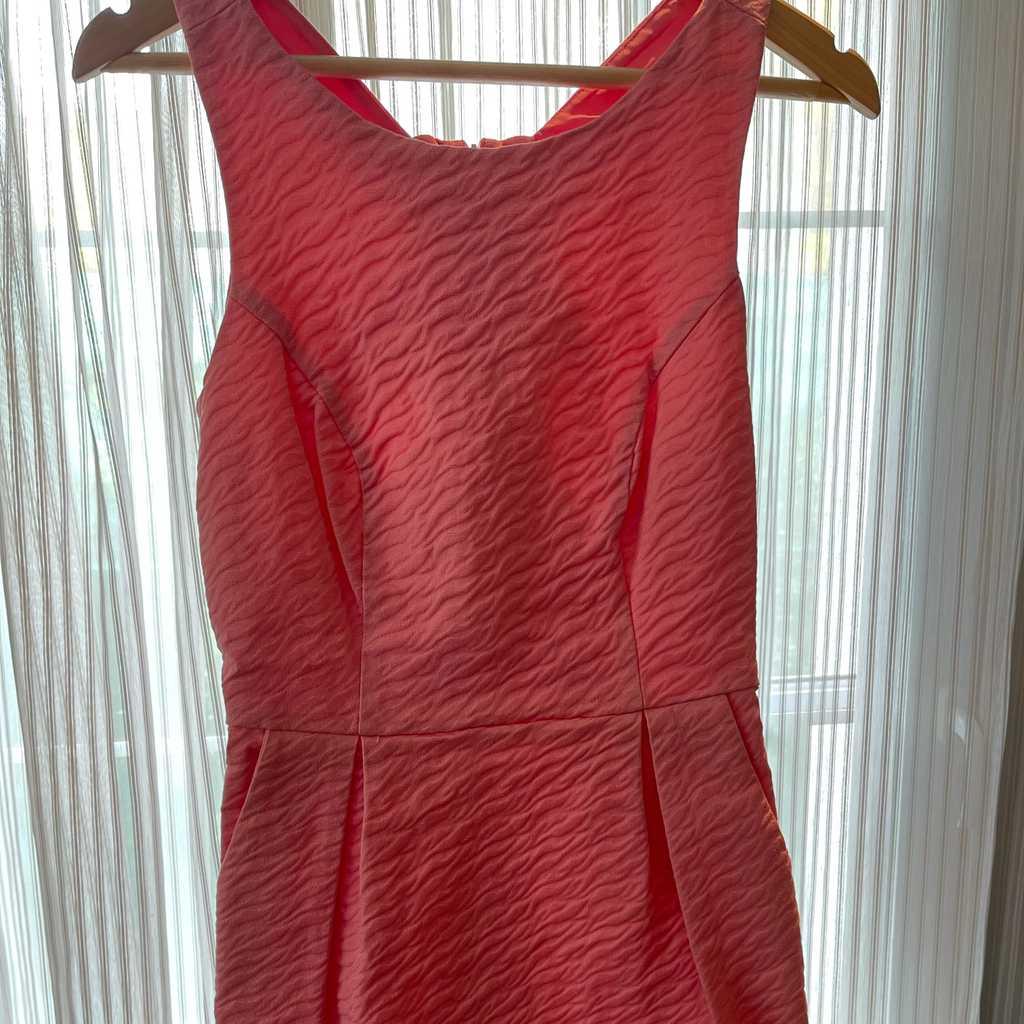 Pink/peach mini dress