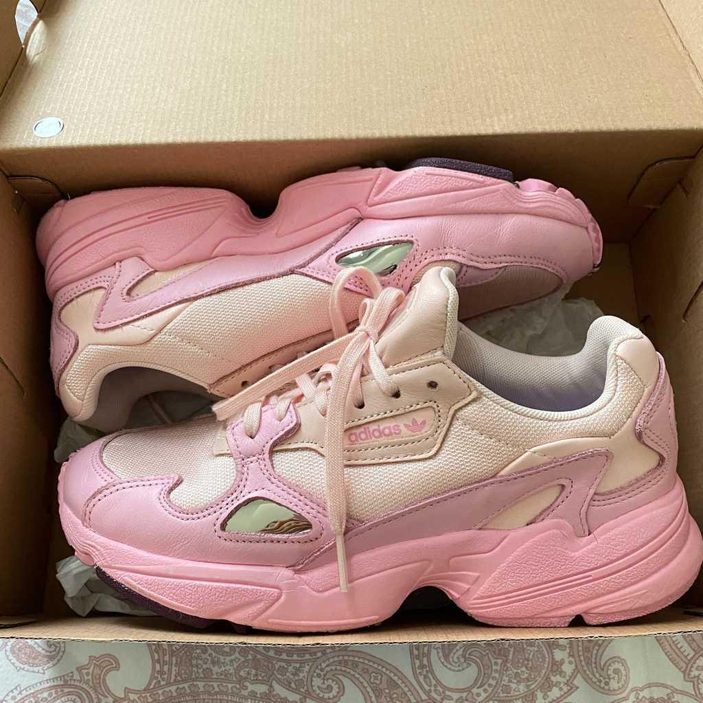 Pink adidas falcons - size 38