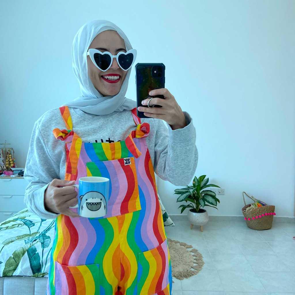 Rainbow overalls 🌈