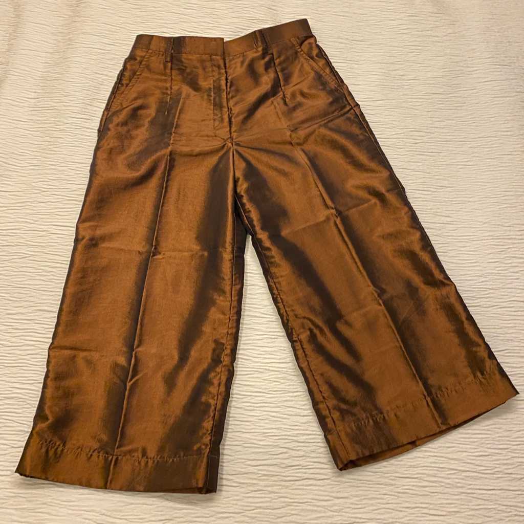 Organza dress copper tone capri pants
