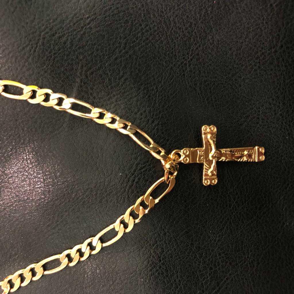 10K gold plated crucifix chain