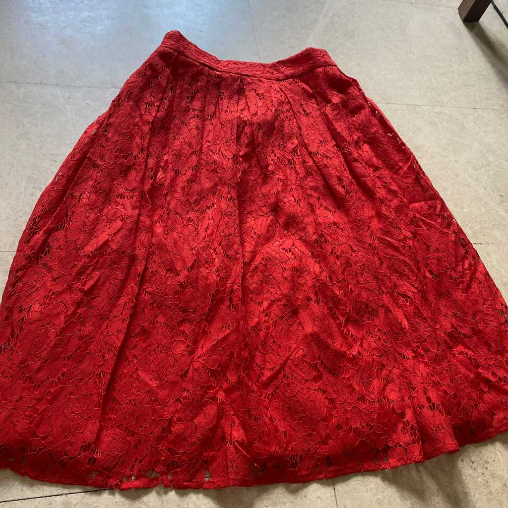Oasis lace effect skirt