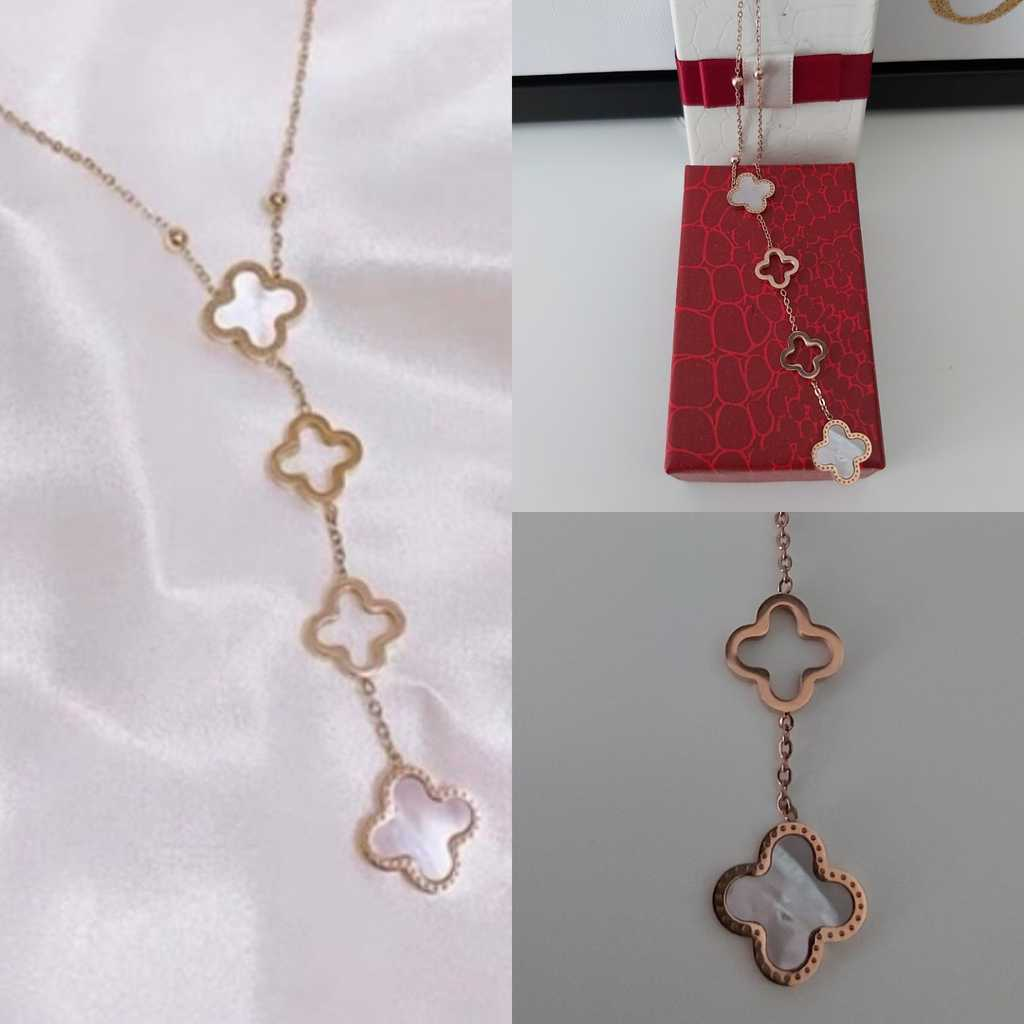 Mother of pearl stainless Steel necklace