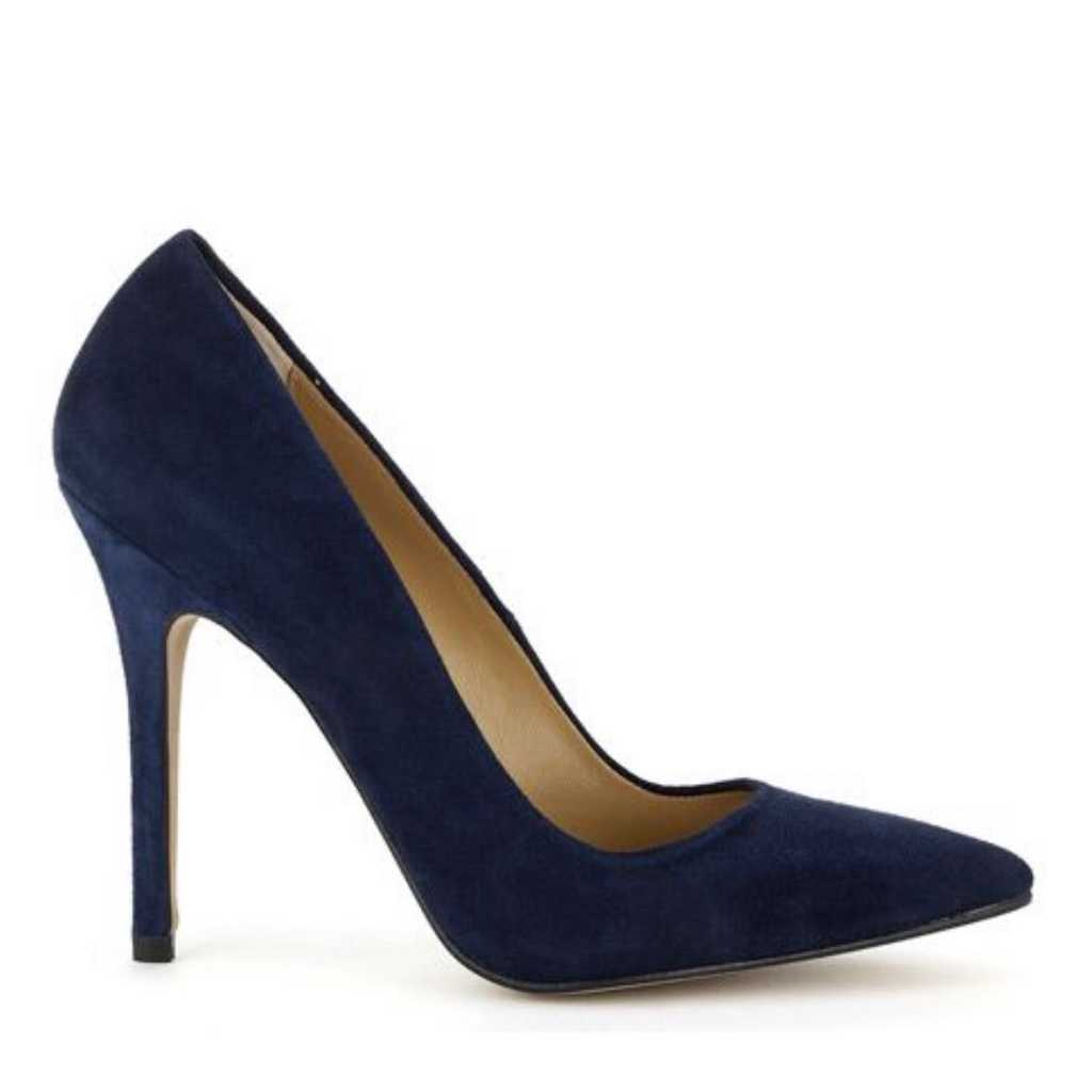 Whistles navy suede leather heels size 39