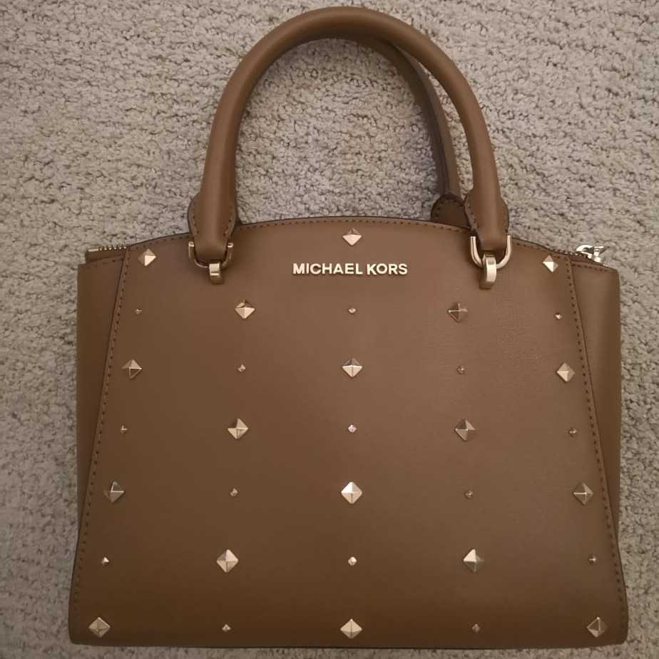 Michael Kors Brown small studded bag