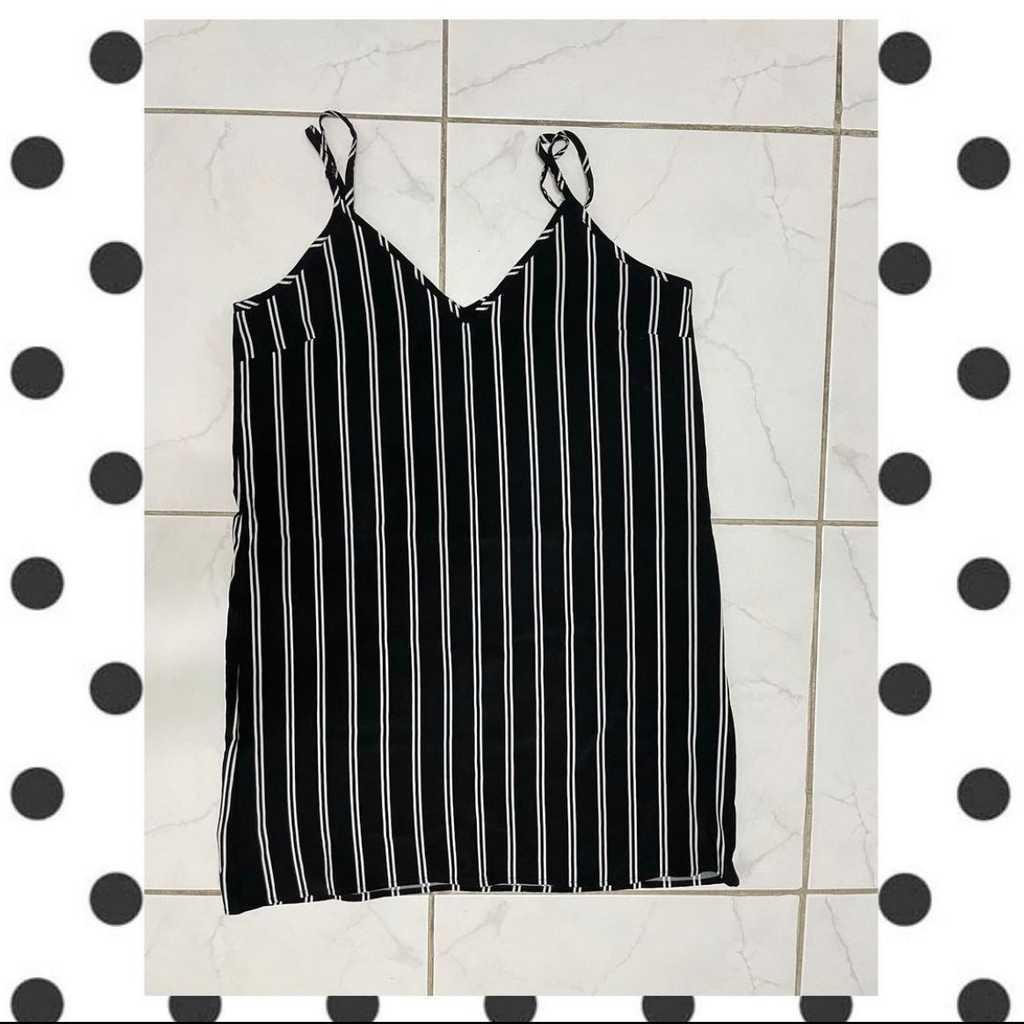 B/w striped dress