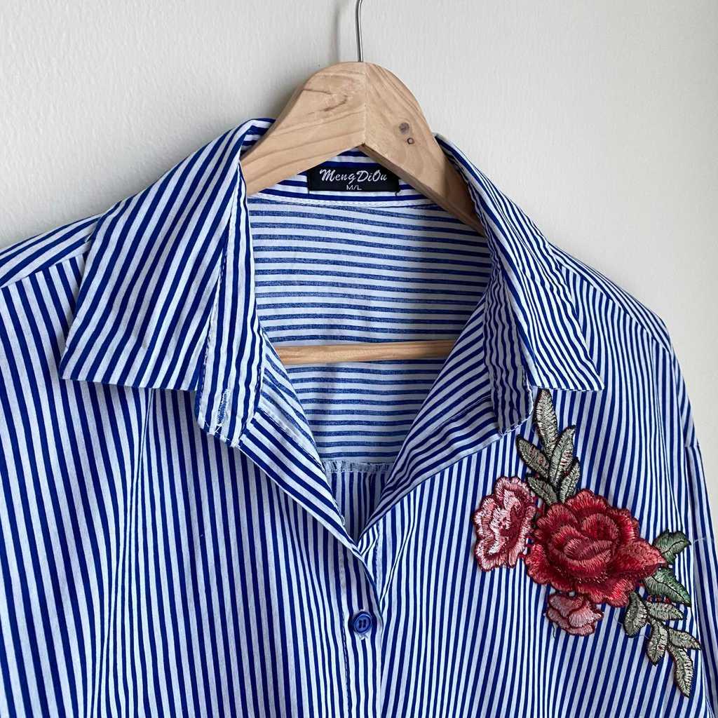 Striped Blue Button Down
