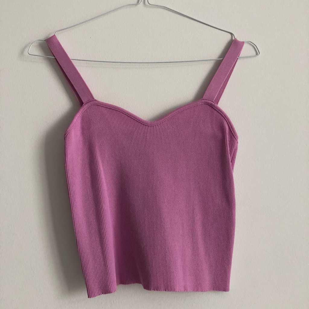Zara pink cute top M