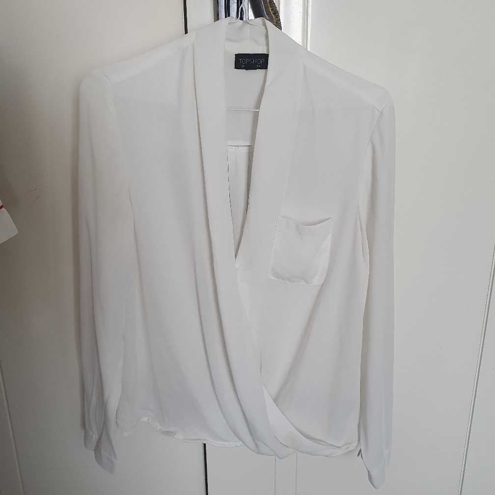 Topshop UK6 white blouse