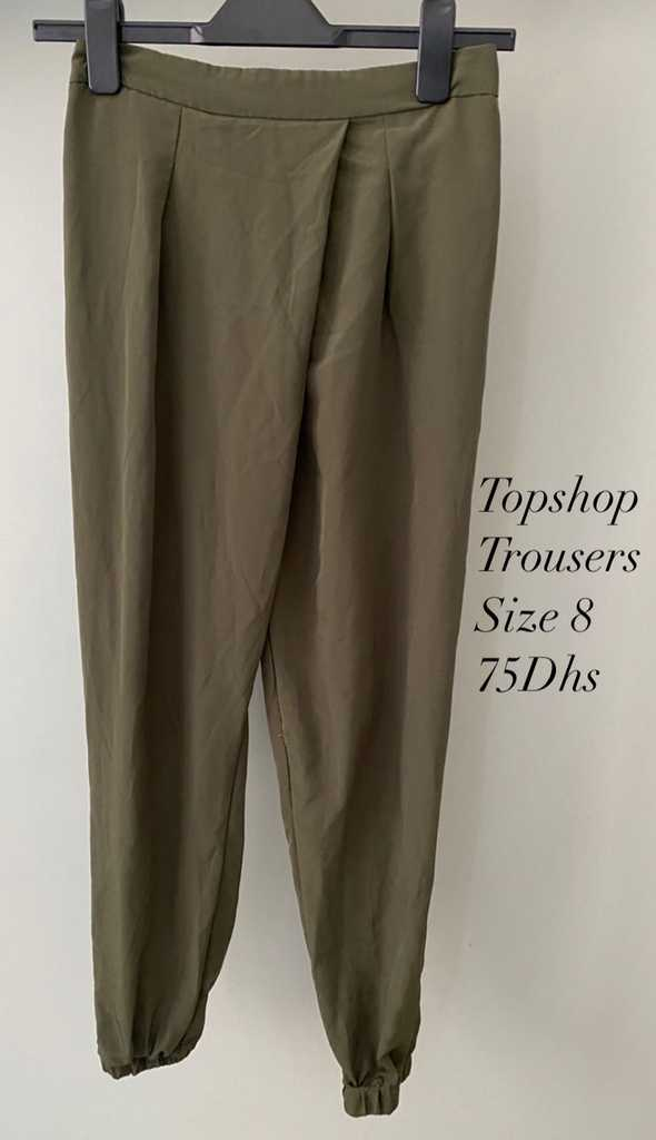 Topshop, Dark Green Trousers, Size 8
