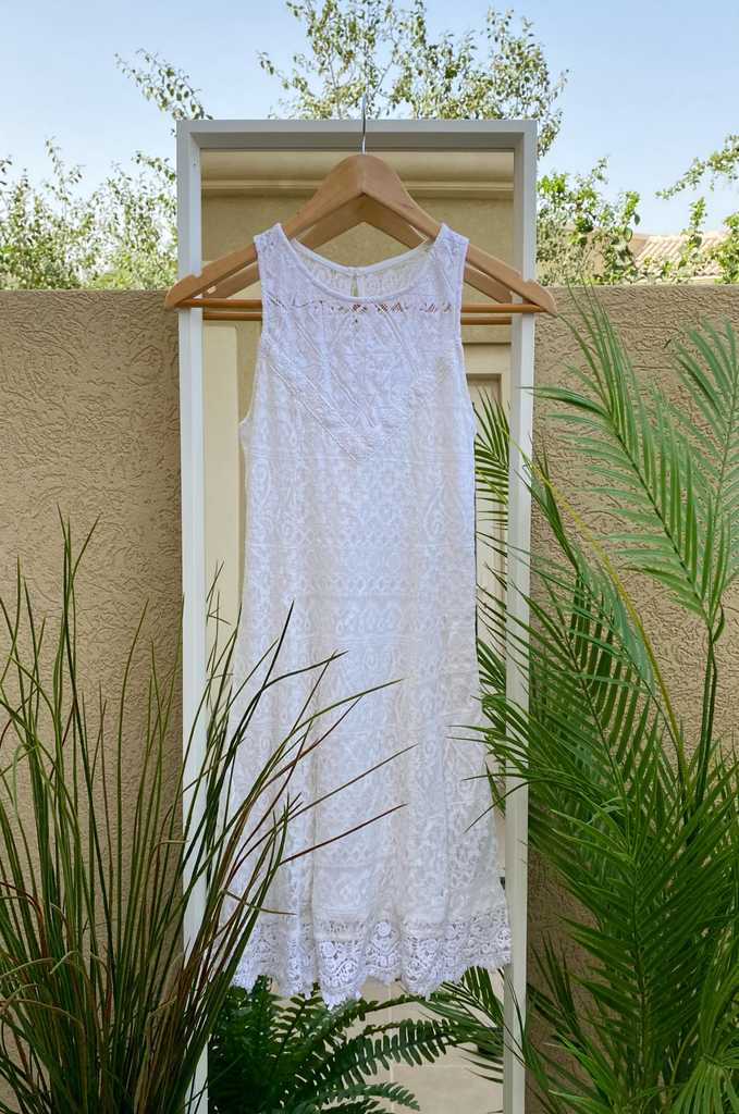 White Lace Event Dress