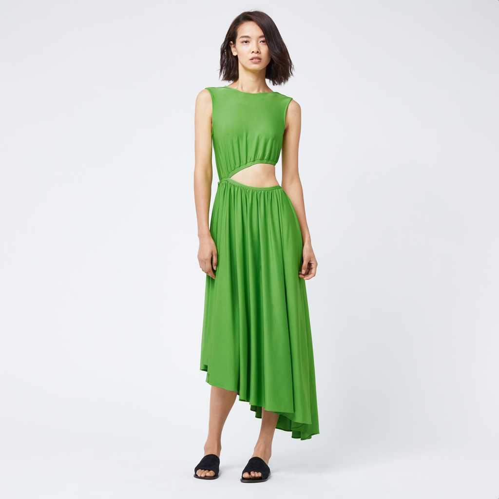 Slinky cut out midi dress