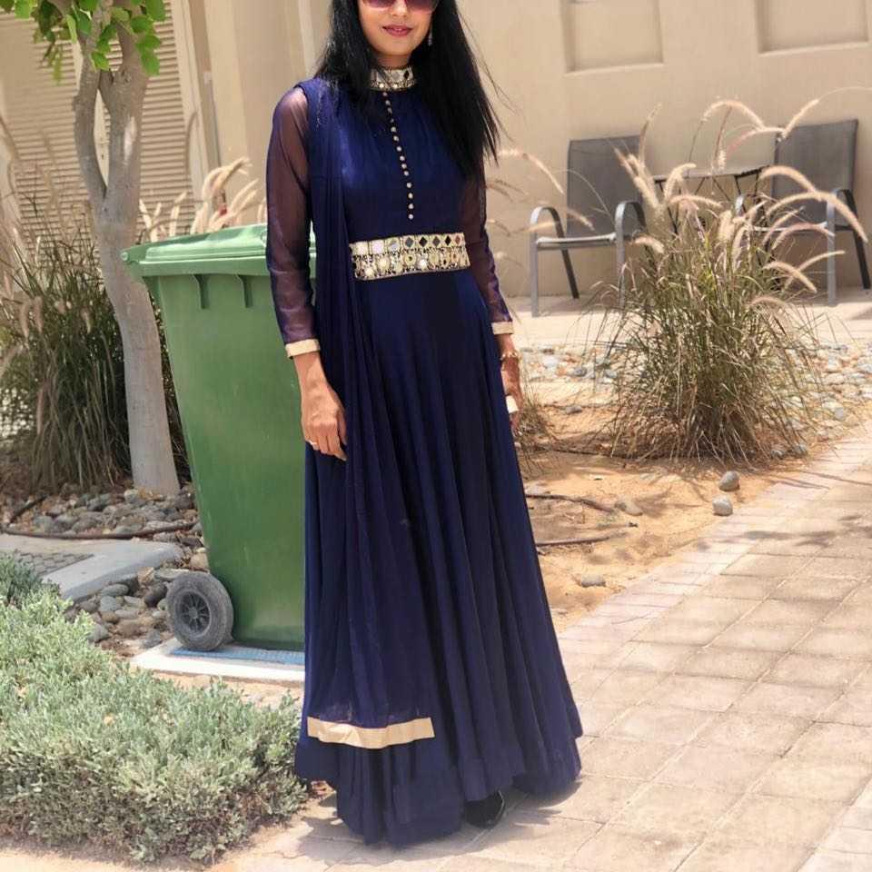 Indian blue dress