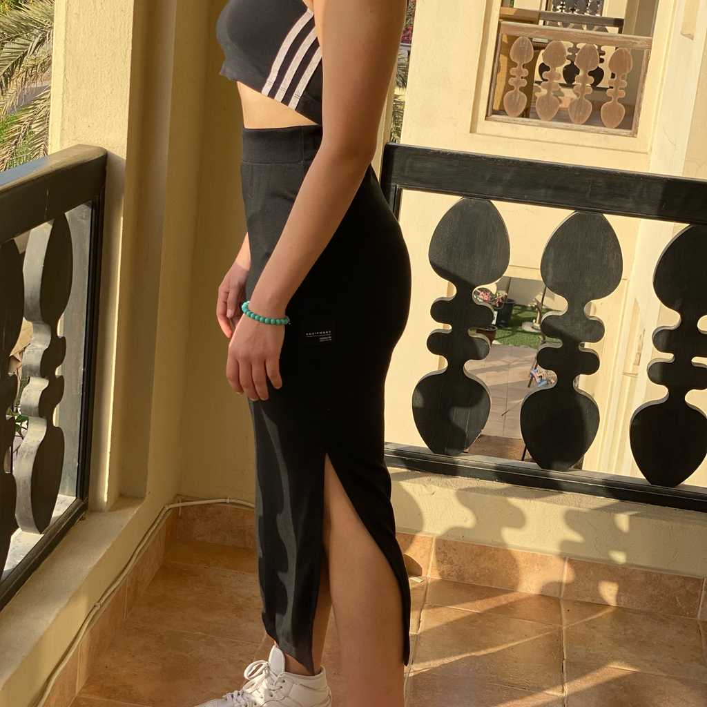 adidas Originals Black Cotton Skirt (Size S)