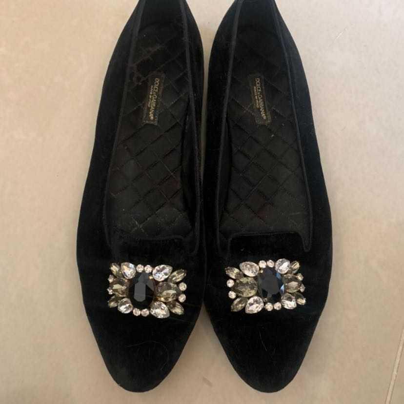 Dolce & Gabbana velvet ballerinas