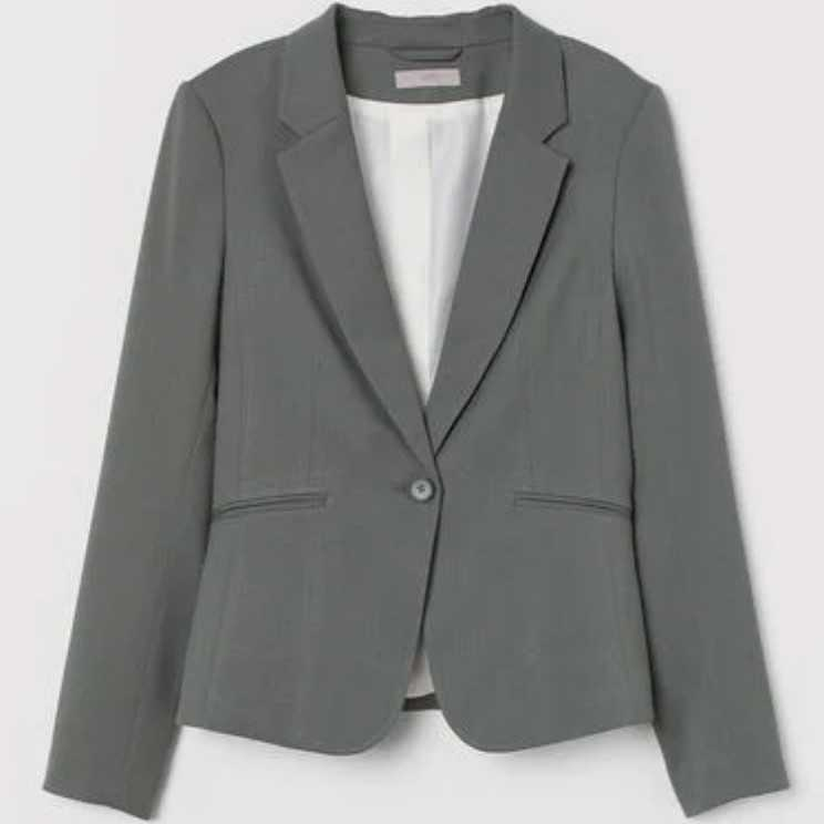 H&M fitted blazer and cigarette trousers