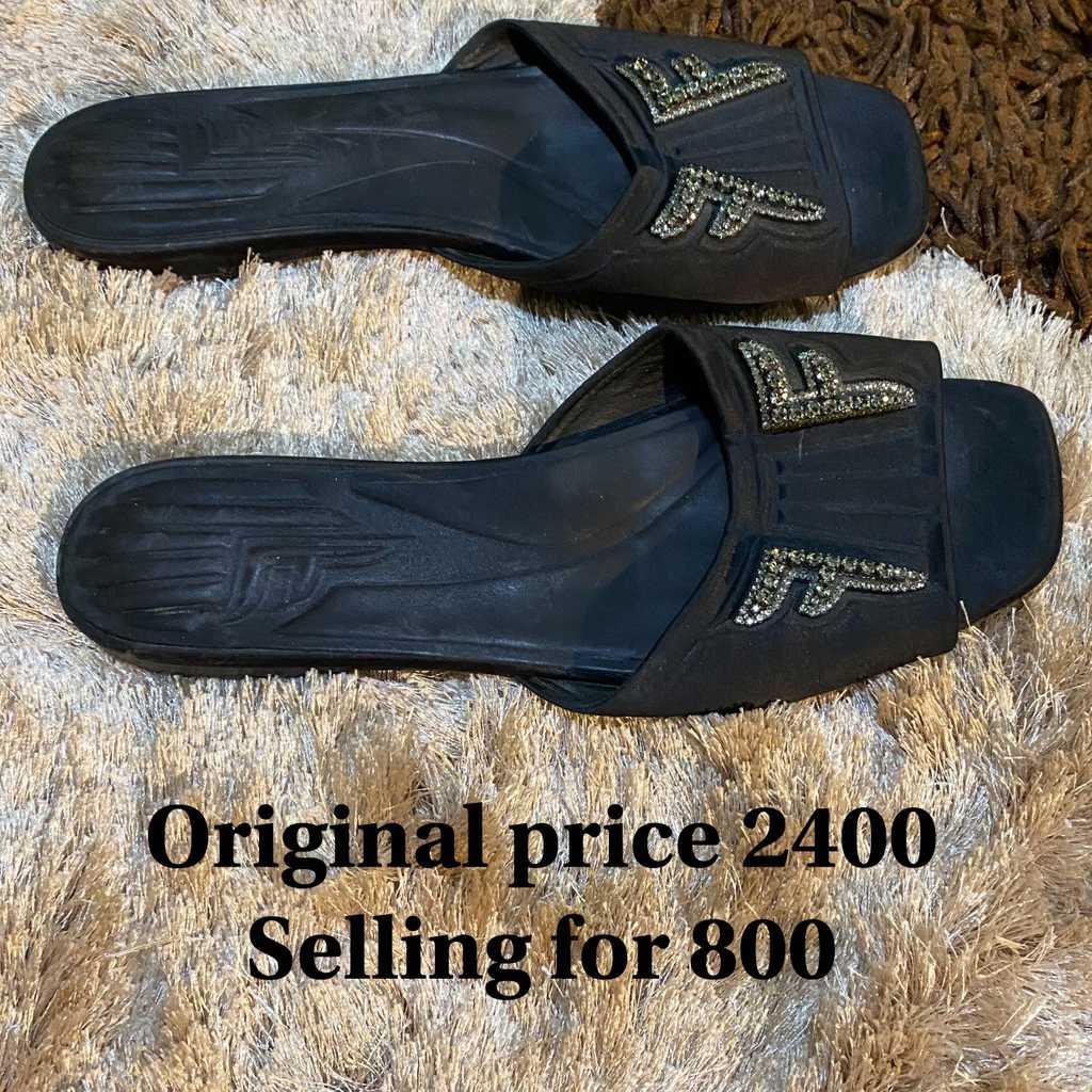 Fendi Black Slide-On Slippers