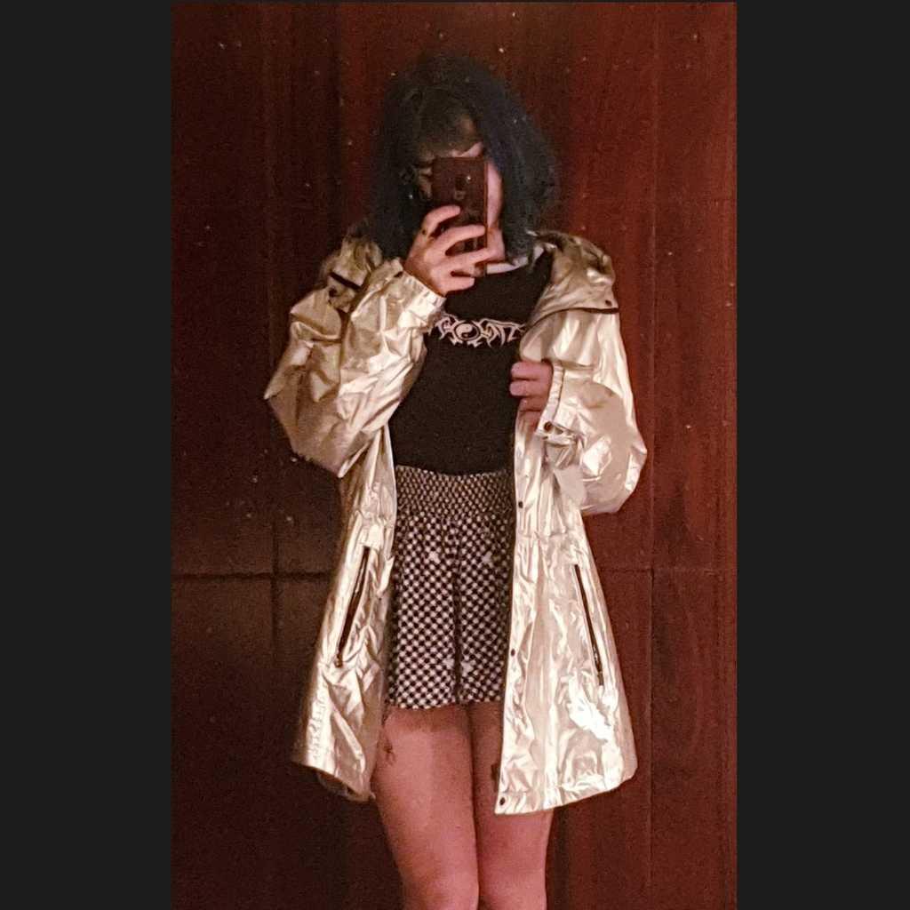 Metallic shimmering Rain coat