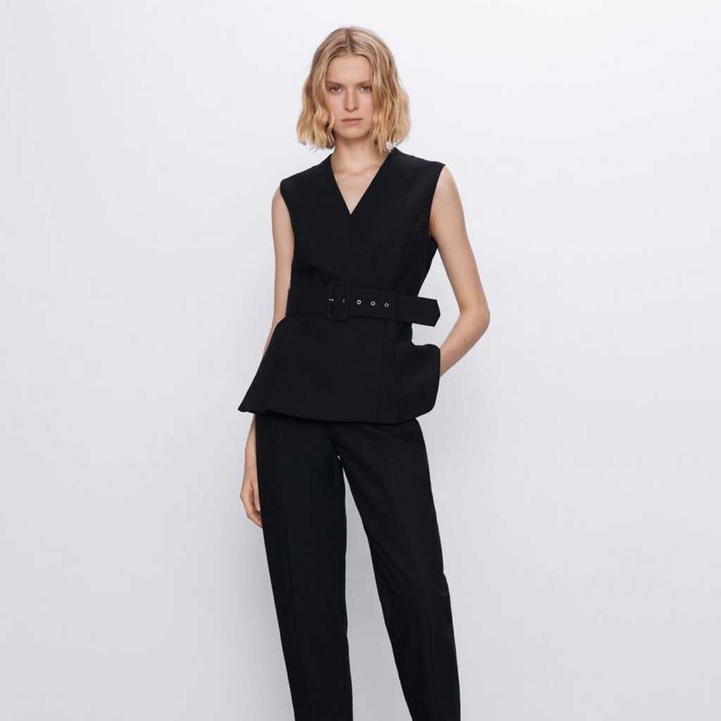 ZARA wrap waistcoat with belt