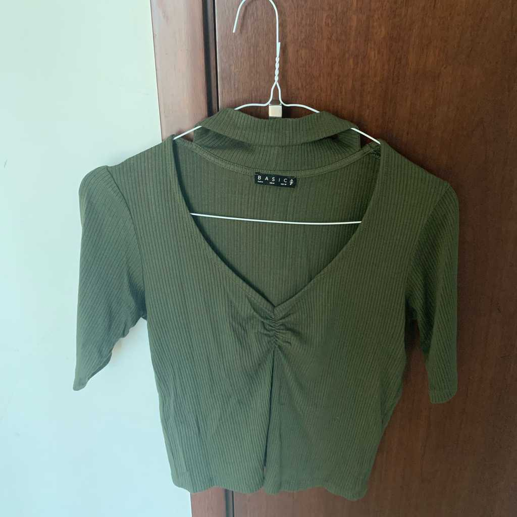 Zara top slightly cropped fitted