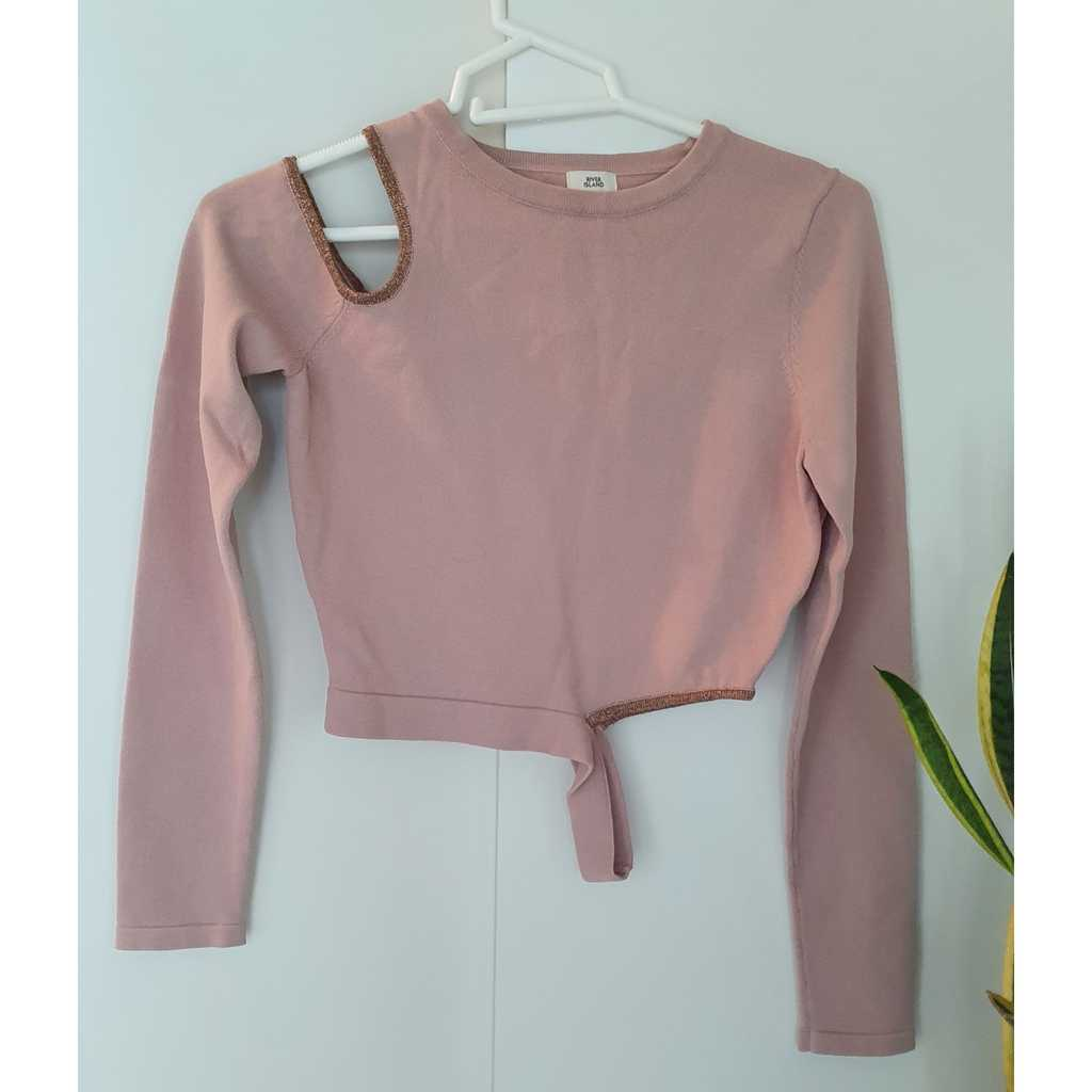Knitted Crop Top with cutout details