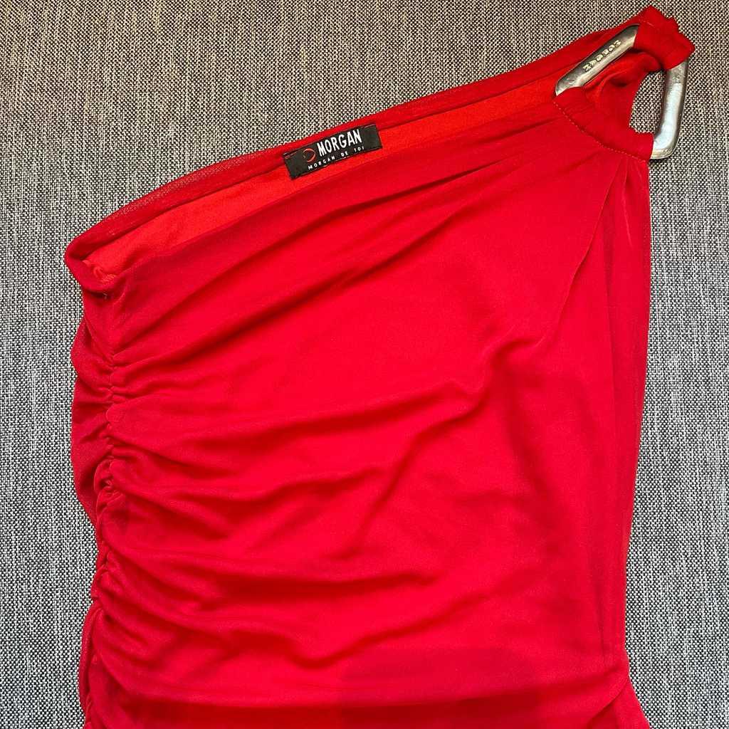 Red one shoulder top