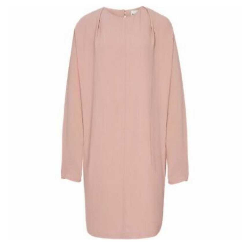 Reiss Batwing Dress in Dusty Pink